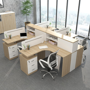Company staff computer desk and chair 2/4/6/8 person office furniture partition card seat screen combination simple and modern