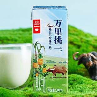 现货 乐纯万里挑一拉菲牛乳水牛奶整箱200ml*12 学生牛奶