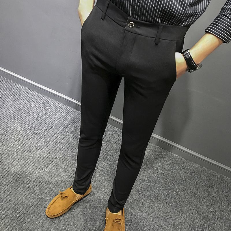【天天特价】男士西裤宽松中青年商务正装上班免烫西装修身裤子
