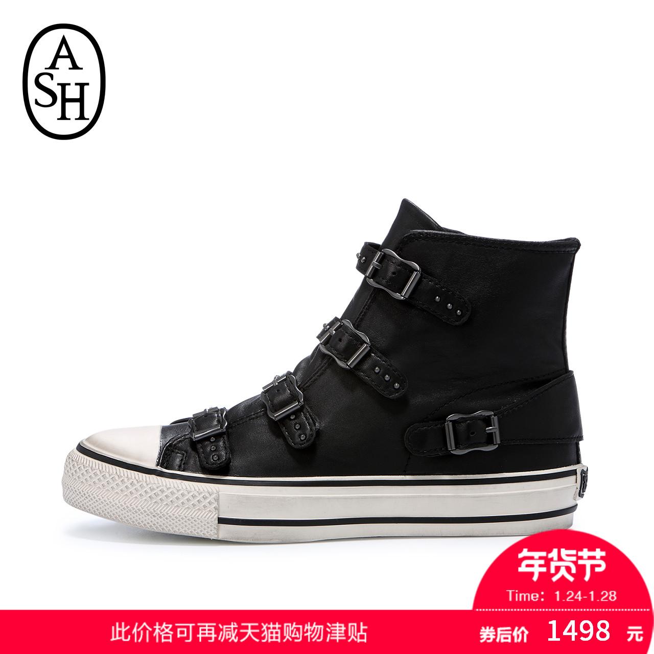 ASH女鞋2017秋冬新品VIRGIN羊皮高帮运动休闲鞋