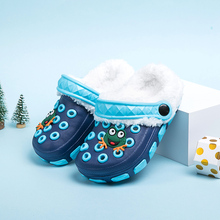 Children's slippers, winter cotton slippers, boy and girl's baby, autumn middle school children's indoor lovely hole shoes, summer baby
