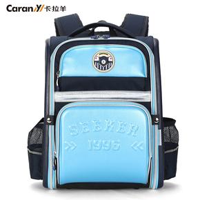 卡拉羊小学生书包背包防水护脊双肩包男女