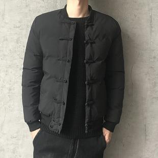 中国风棉衣男士冬季外套加厚盘扣羽绒棉服短款修身棉袄男潮流冬装