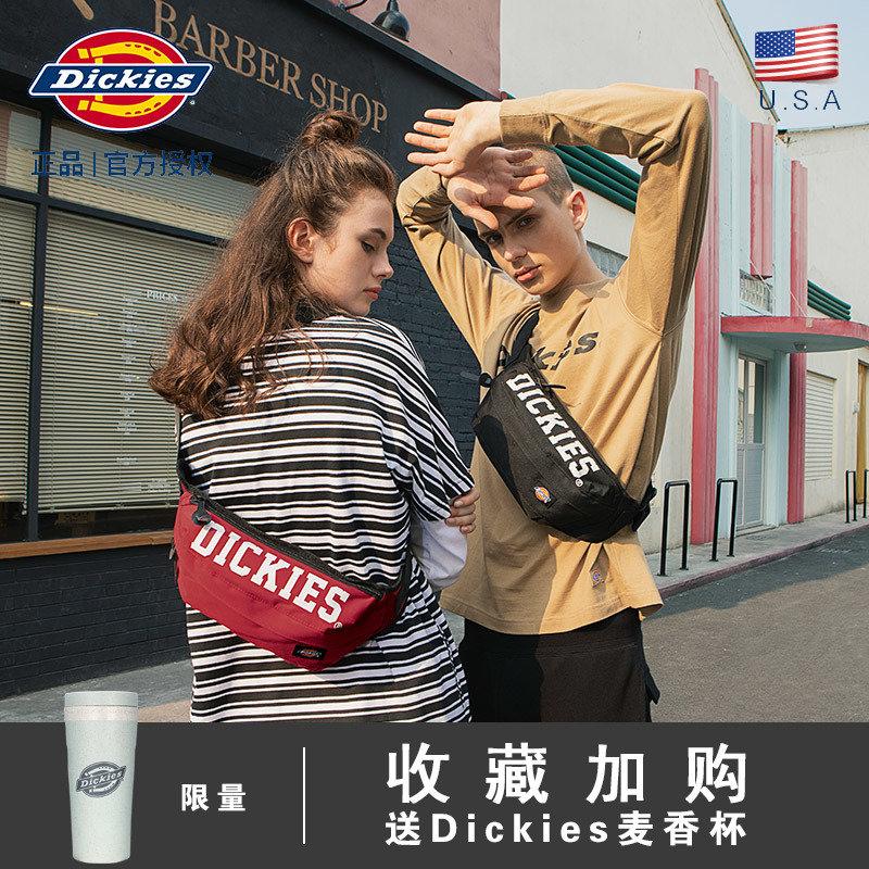 正品新款Dickies男女腰包学生斜挎包胸包字母单肩包C012