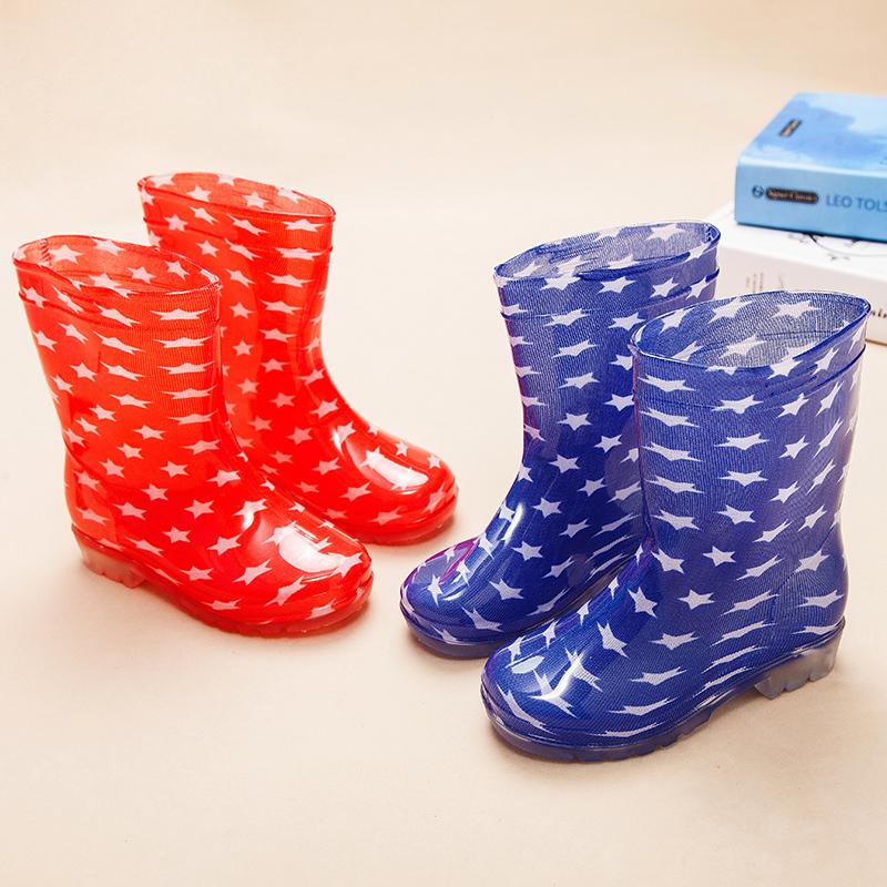 【疯抢12.9包邮】儿童雨鞋中大童雨靴男女童防滑软底中筒靴子防水