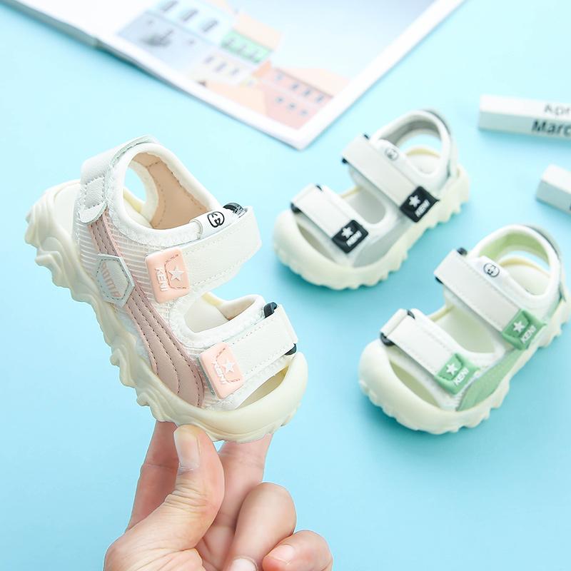 小童凉鞋2020夏季新款女童男童2-3―4岁软底防滑包头防撞宝宝凉鞋