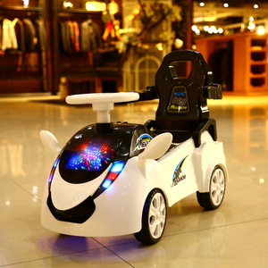 Children electric twist car with light music early education four-wheeled yo-yo 1-3 year old baby scooter toy car