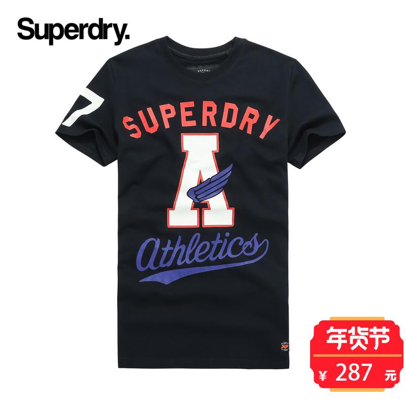 英国Superdry极度干燥男士唇印印花短袖T恤2017秋冬新品SM10030XP