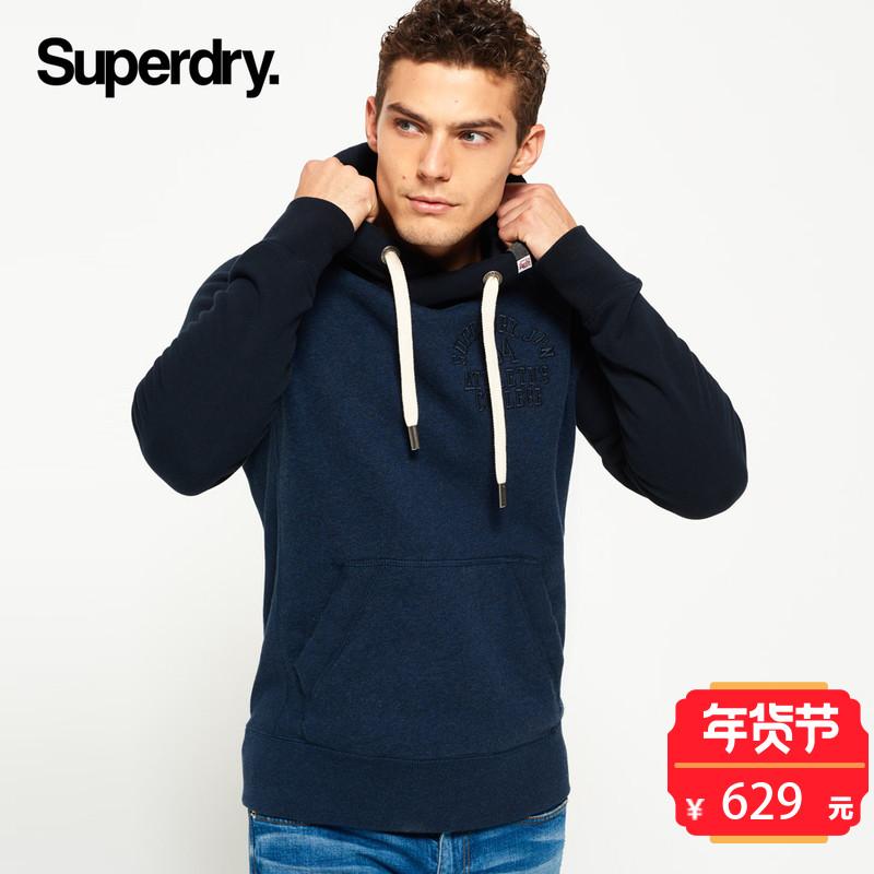 英国Superdry极度干燥男士连帽衫卫衣2017冬季新品