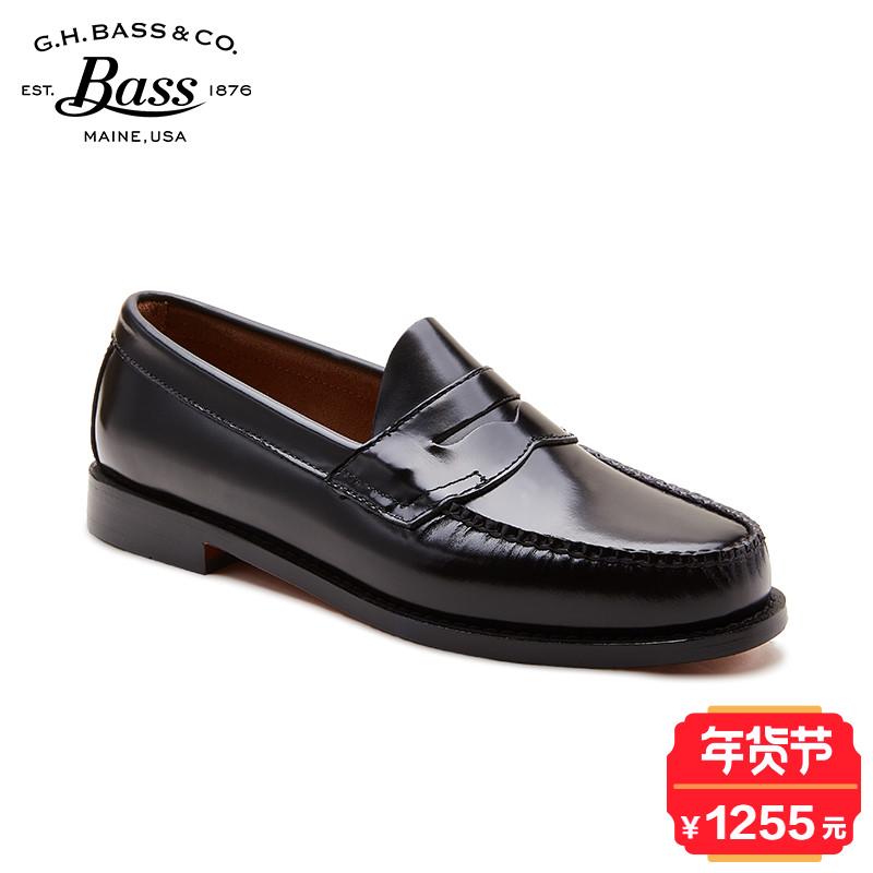 G.H.Bass男士便士乐福鞋真皮复古皮鞋一脚蹬休闲皮鞋weejuns