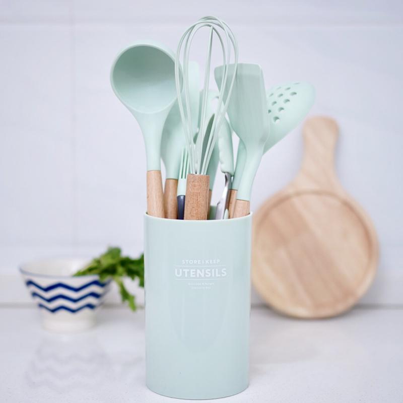 新思特不粘锅专用食品级硅胶铲九件套勺子厨房家用烙饼耐高温厨具