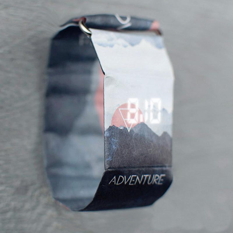 纸手表 德国Papr Watch纸质防水黑科技智能手表新型创意手表 男