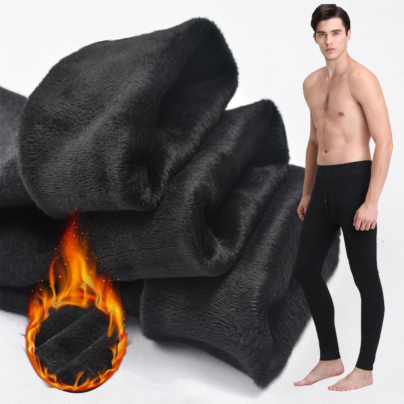 男士 秋裤 秋冬季 加厚 保暖 修身 单件 打底裤 绒裤 羊毛 内裤 棉裤