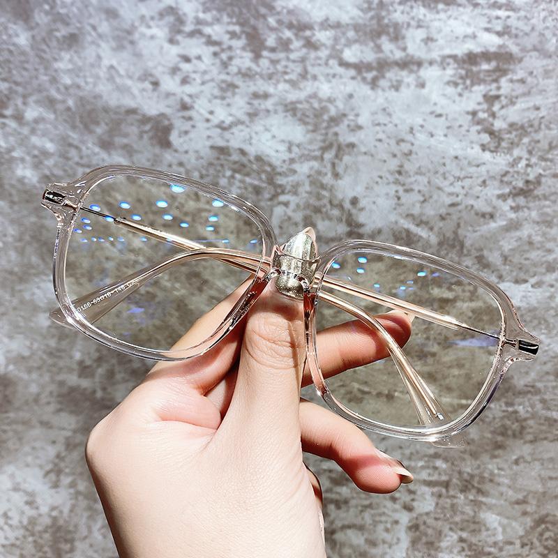 复古抗蓝光防辐射眼镜近视电脑眼镜框女疲劳护目眼睛大平光镜男潮
