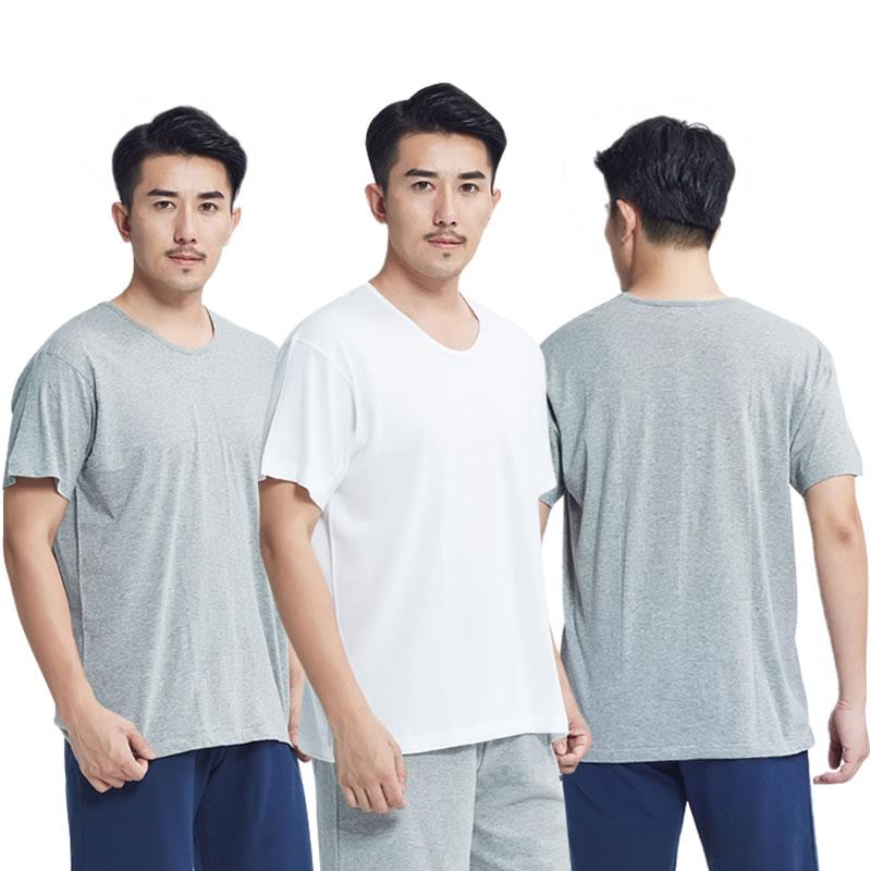 3件包邮宜而爽15001000102男纯棉汗衫圆领打底短袖老头衫T恤大码