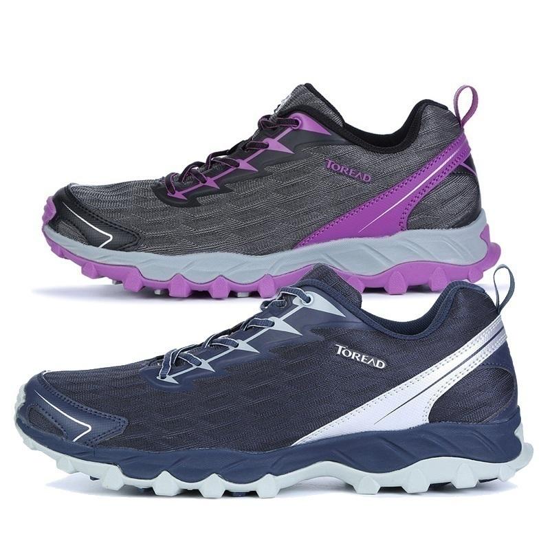 探路者跑鞋男鞋秋冬户外女式舒适耐磨透气徒步鞋KFFF91356/92356