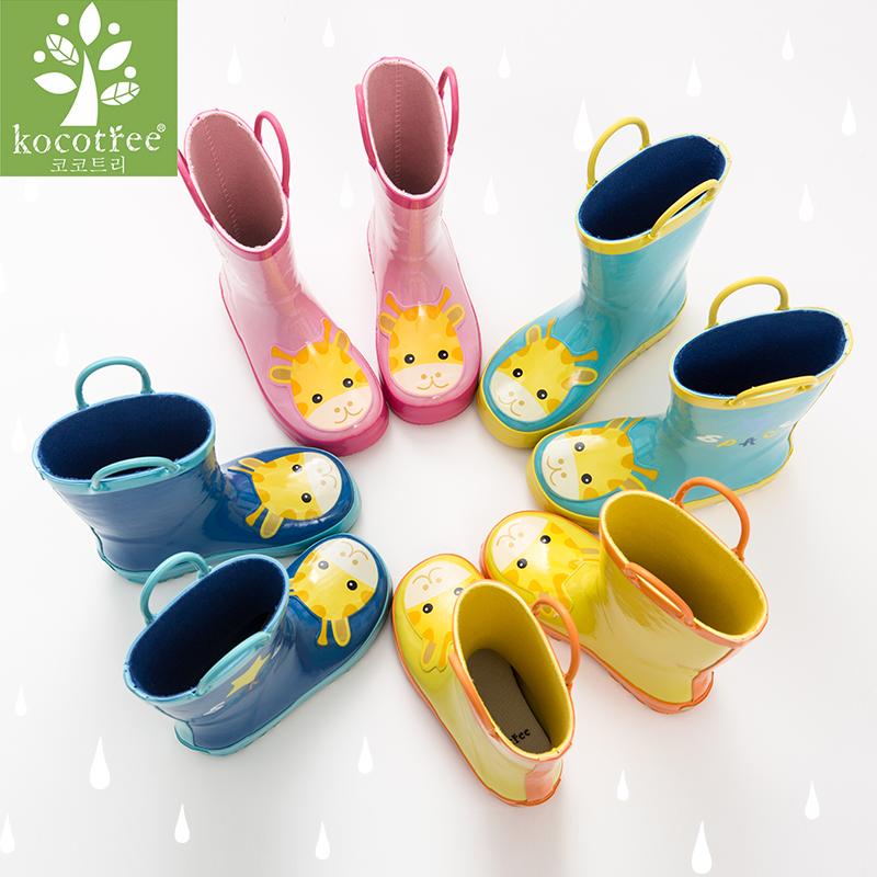 儿童雨鞋男童女童雨衣幼儿3岁宝宝大童防滑小孩雨靴学生水鞋套装