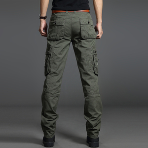 Winter thick overalls men's multi-pocket loose outdoor sports casual pants camouflage military pants wear-resistant work pants