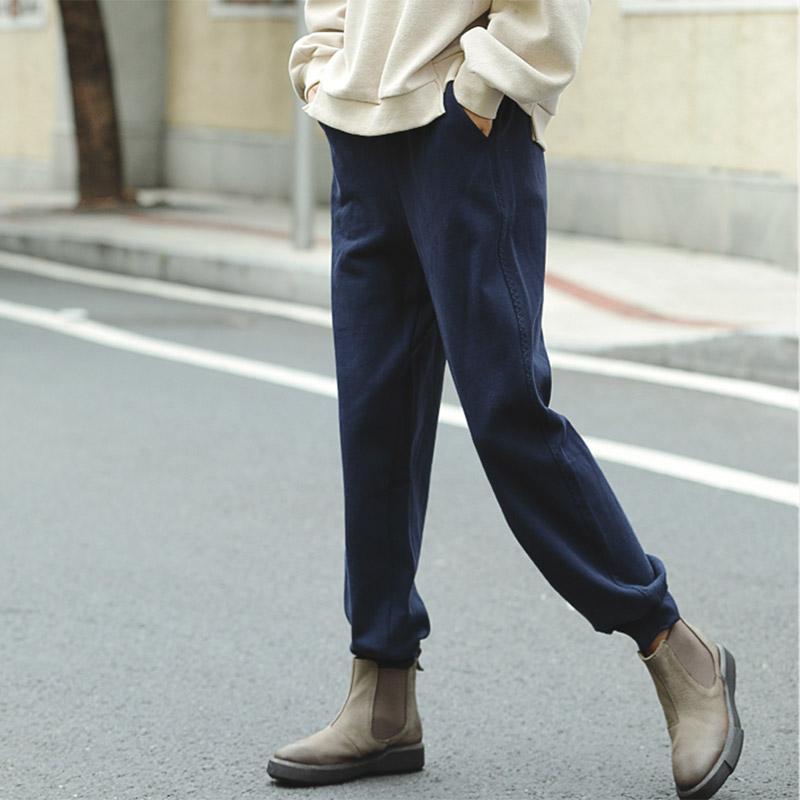 可然 星河/精梳纯棉 宽松休闲裤运动裤子女裤秋冬季长裤直筒裤