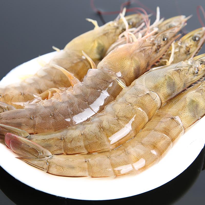 味库厄瓜多尔白虾海鲜冻南美对虾非青岛大虾海虾基围虾净重1.4kg