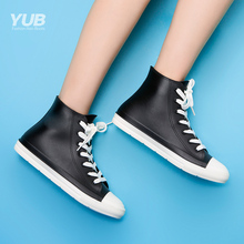Yub rain shoes, women's Korean rain boots, lovely antiskid rubber shoes, short tube, water boots, lovers' water shoes, fashion rain shoes