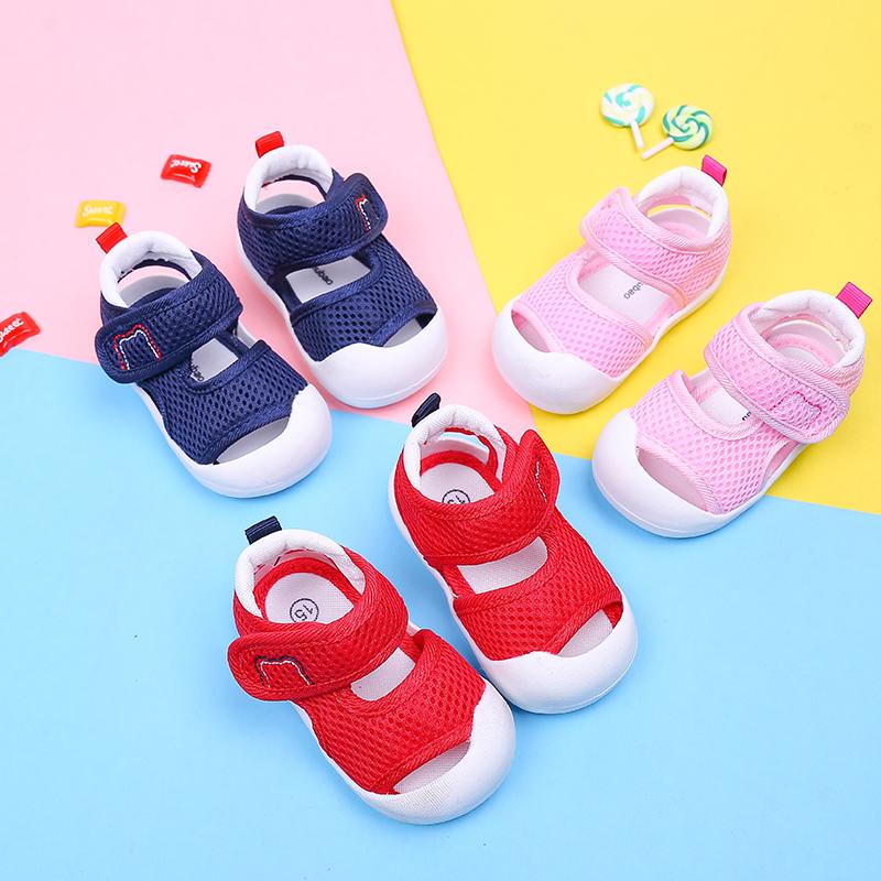 宝宝凉鞋1-3岁软底夏季男包头防踢婴幼儿学步鞋防滑不掉女童凉鞋