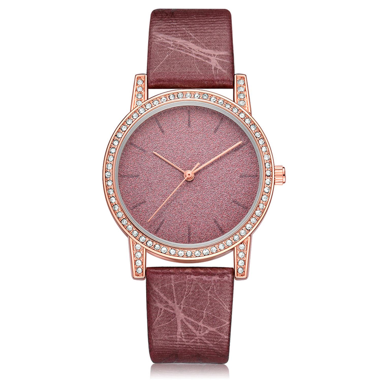 亚马逊新款 XINGE品牌女士手表 流行珠光散粉镶钻表盘合金腕表