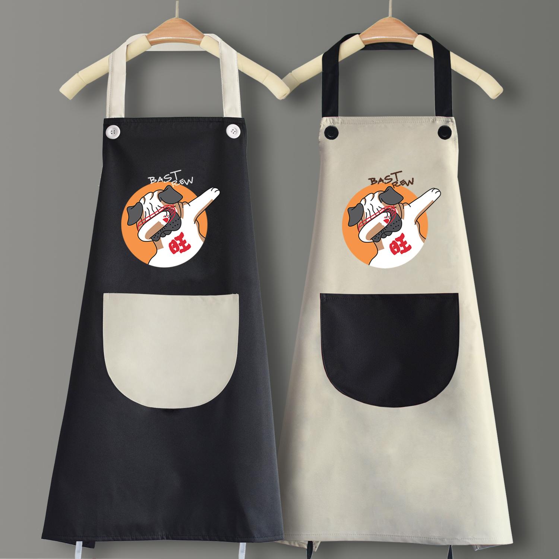 时尚可爱日系围裙防水防油家用厨房做饭男女大人工作服定制印logo