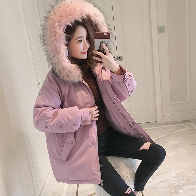 韩版冬季棉袄2018新款羽绒棉服女学生宽松面包服ins短款棉衣外套