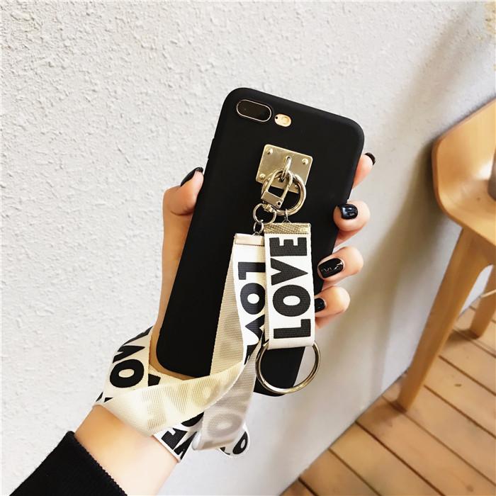 韩风织带 小米红米5手机壳 红米5plus手机套女款可爱手机套挂绳潮