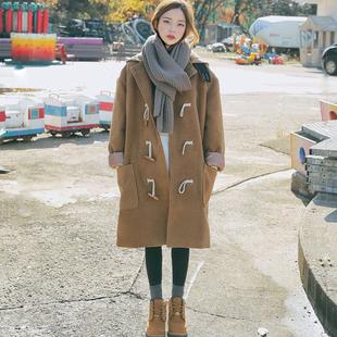 2018秋冬新款韩版学生呢子大