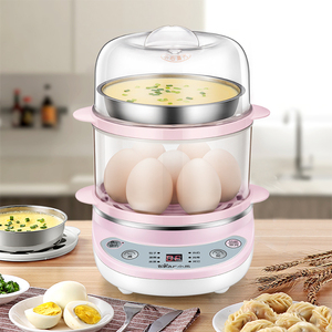 Little bear egg steamer automatic power off household egg cooker can be scheduled timing double-layer egg stew egg steaming machine artifact