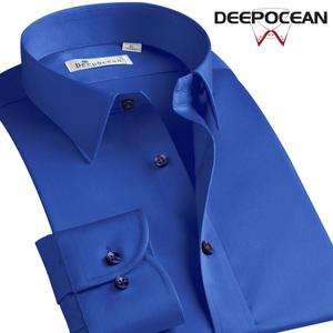 Deep sea cotton non-ironing shirt men's long-sleeved Slim Korean shirt men's inch autumn business casual trend men's clothing