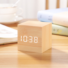 Mini alarm clock, creative personality, lazy student's bedside, small simple electronic clock, dormitory desktop clock