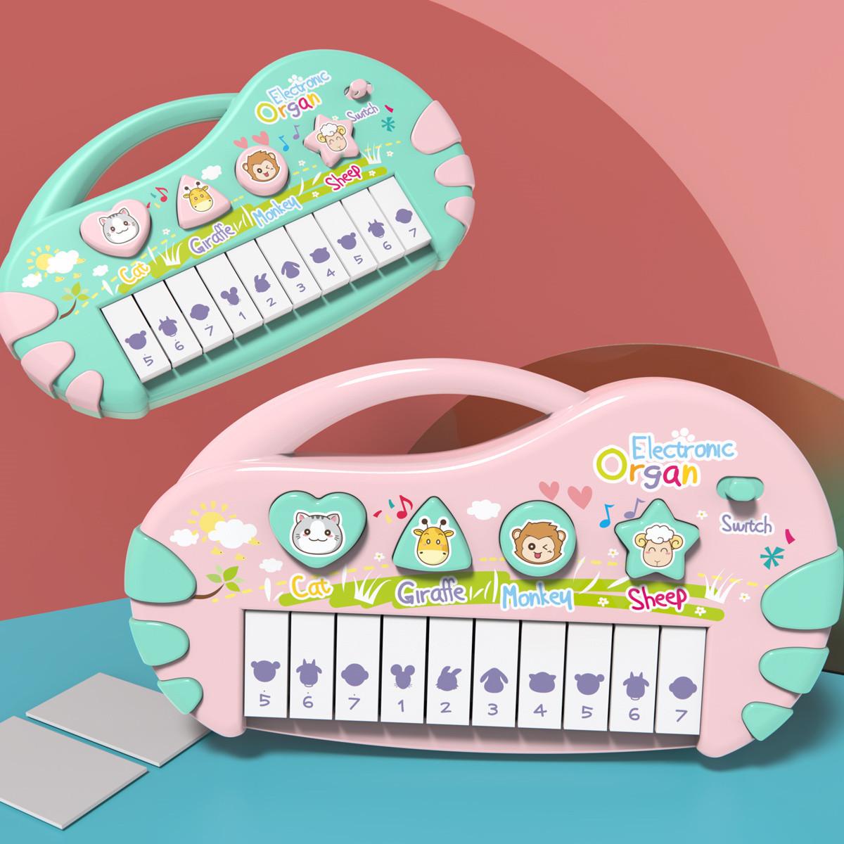 儿童电子琴玩具早教益智婴儿6音乐女孩宝宝18个月初学钢琴0-1-3岁