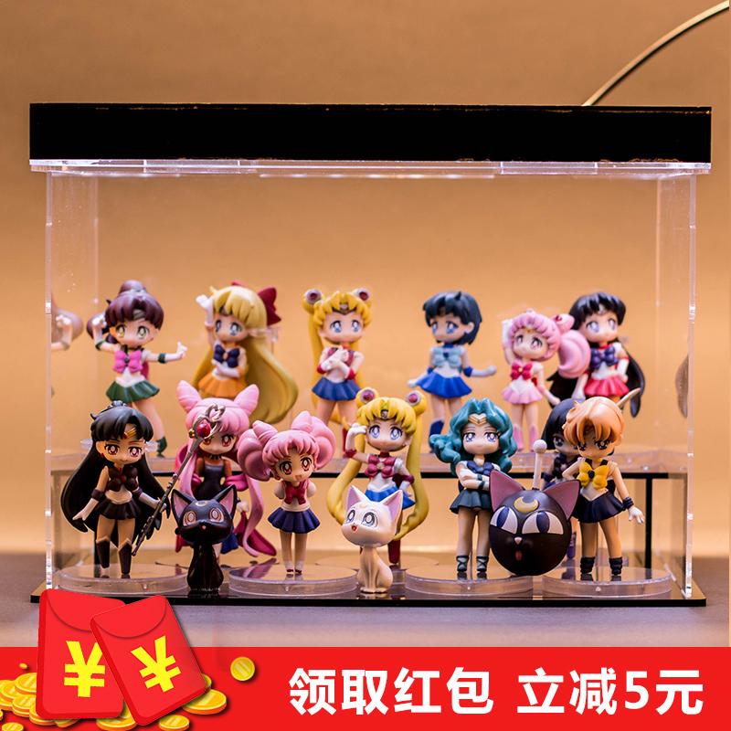 日本人偶美少女战士月野兔动漫周边模型手办公仔车内摆件玩偶全套