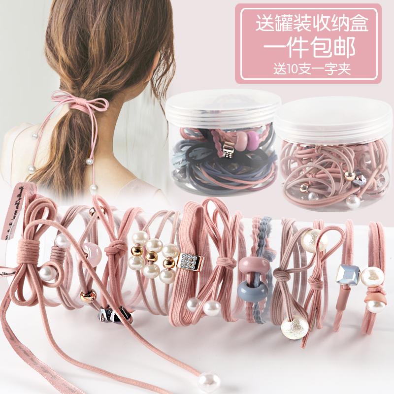 韩国头绳ins风少女网红橡皮筋头饰小清新皮套成人发绳森女系发圈
