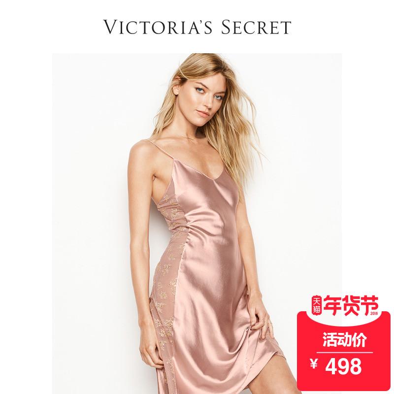 维多利亚的秘密 缎面蕾丝睡裙 VS 11115461