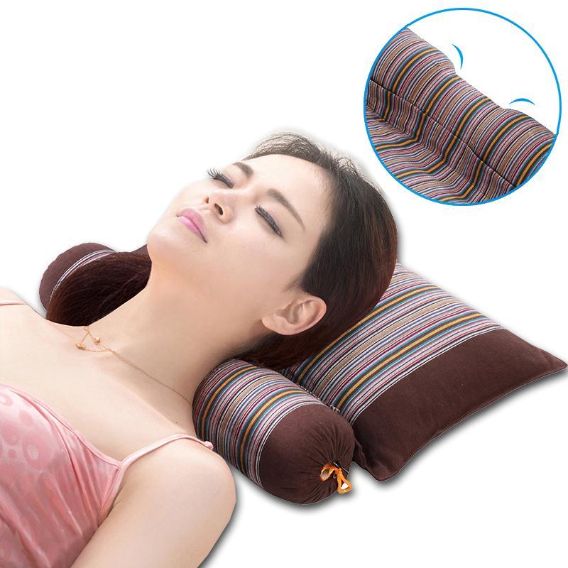 颈椎 枕头 修复 牵引 矫正 荞麦 脖子 曲度 纠正