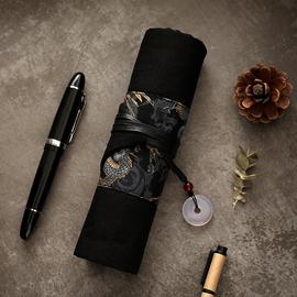 古风笔帘卷笔袋男复古卷帘式中国风钢笔笔袋女大学生初中生文具袋