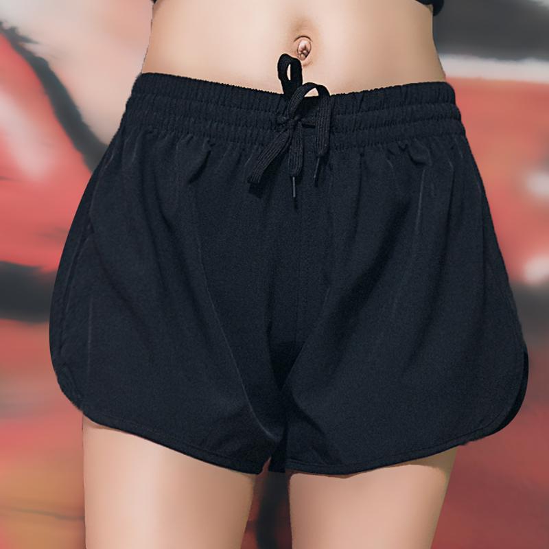 运动短裤女夏季瑜伽健身跑步短裤外穿宽松三分速干训练裤透气大码