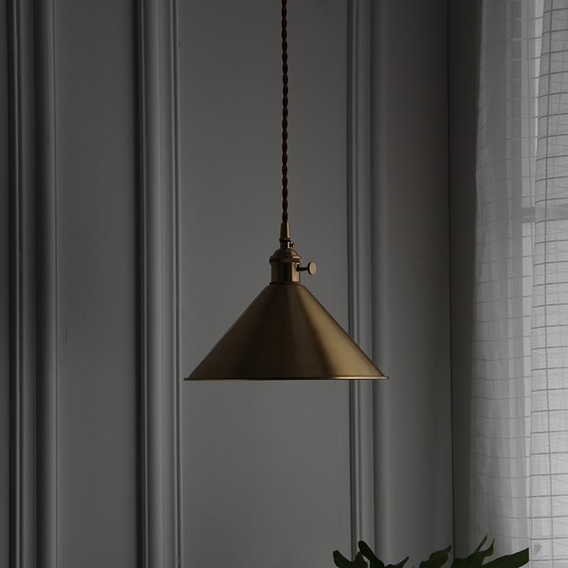 西早 美式全铜吊灯北欧简约床头餐桌餐厅吧台玄关飘窗衣帽间吊灯-西早WESTMORNING