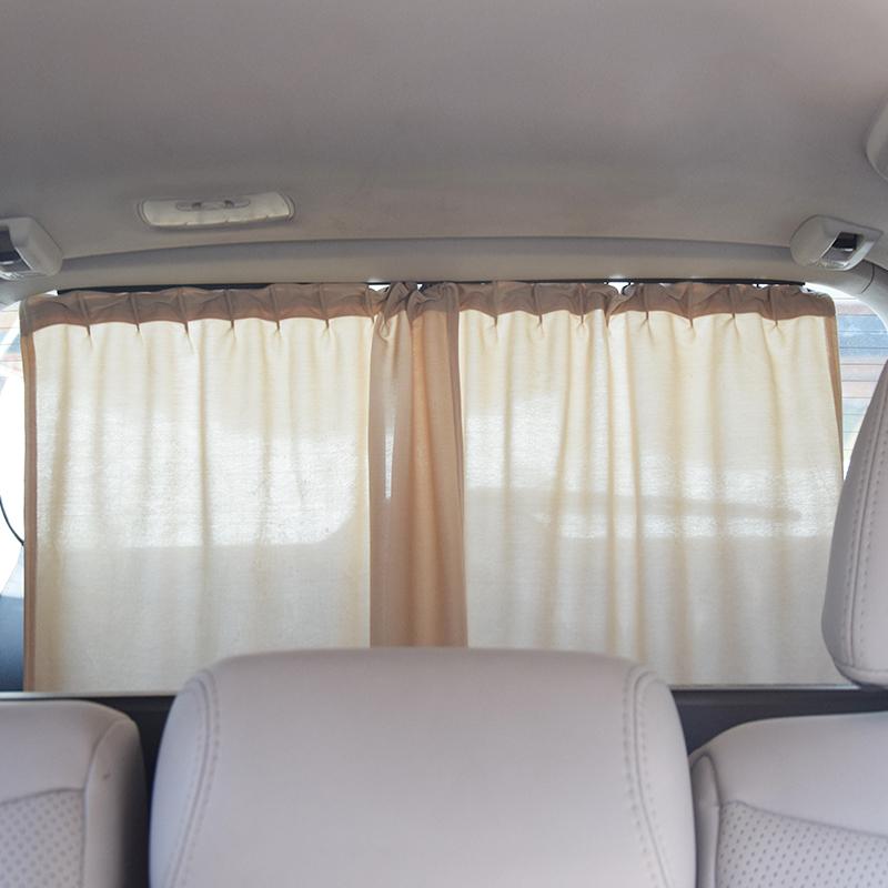 汽车后窗帘轨道式隔热遮阳挡车用防晒遮光布收缩后档后座用遮阳板