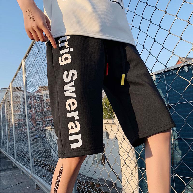 2020夏季新款男士潮流宽松字母印花五分裤男短裤 A436-1-C118-P35