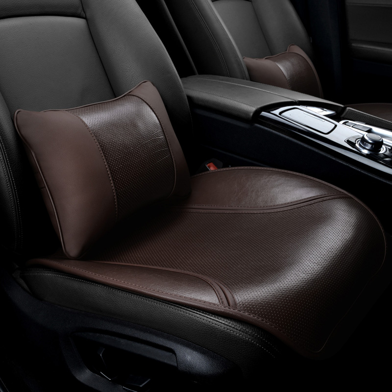 新款四季牛皮汽车坐垫三件套汽车座垫单片座垫无靠背车垫真皮方垫