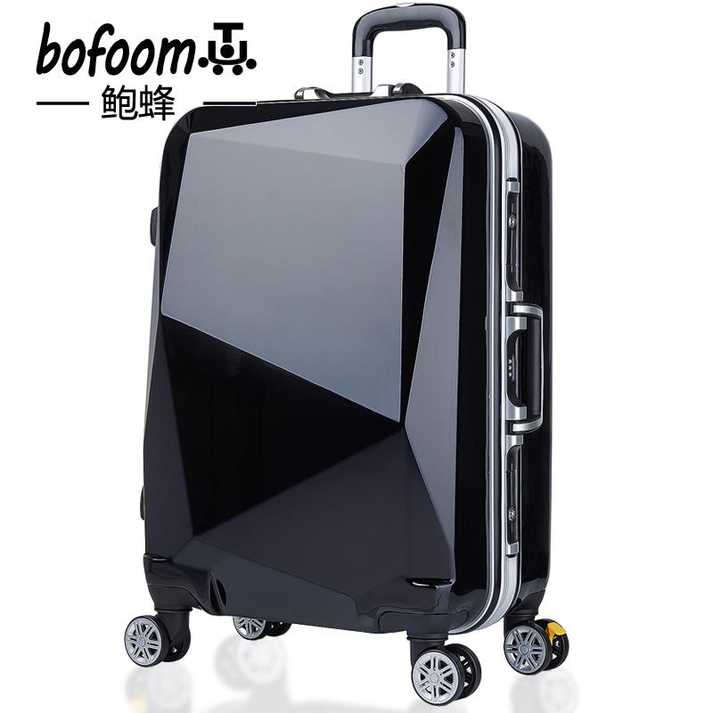 鲍蜂铝框拉杆箱万向轮24寸行李箱男28学生皮箱子镜面旅行女20密码