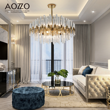 Oder light luxury crystal living room lamp postmodern lamp simple creative personality luxurious dining room bedroom Chandelier