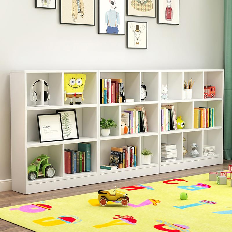儿童书架儿落地小书架学生家用简易置物架幼儿园白玩具架儿童书柜满100元减10元