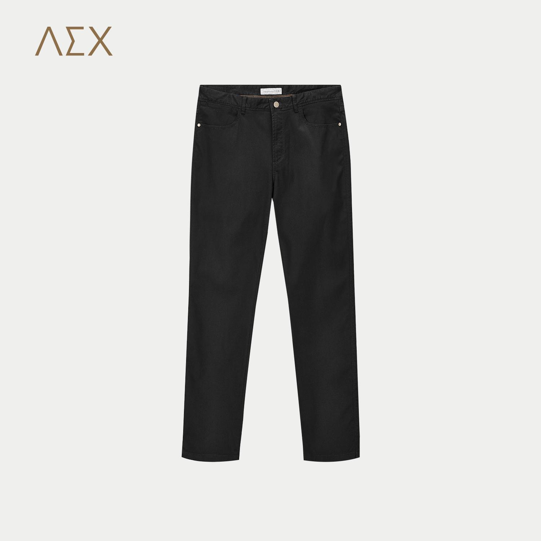 AEX男装2017秋冬新款微弹合体直筒休闲裤