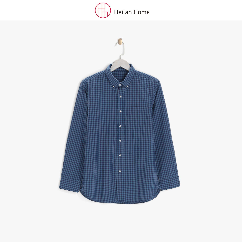 格纹长袖衬衫男 Heilan Home/海澜优选生活馆
